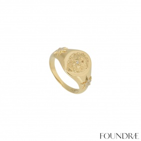 Foundrae Yellow Gold Diamond Ring